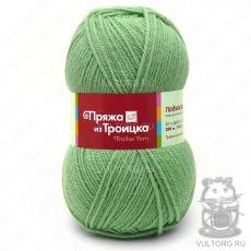 Пряжа Подмосковная из Троицка, цвет № 0580 (Зелёное яблоко)