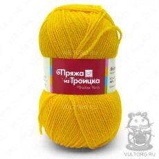 Пряжа Подмосковная из Троицка, цвет № 0596 (Жёлтый)