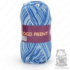 Пряжа Vita Cotton Coco print, цвет № 4668 (Голубой меланж)
