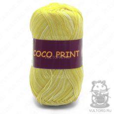 Пряжа Coco print Vita Cotton, цвет № 4677 (Желтый меланж)