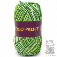 Пряжа Vita Cotton Coco print, цвет № 4653 (Зелёный меланж)