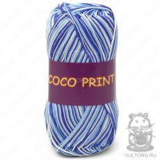 Пряжа Vita Cotton Coco print, цвет № 4659 (Синий меланж)
