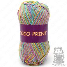 Пряжа Vita Cotton Coco print, цвет № 4680 (Радужный меланж)