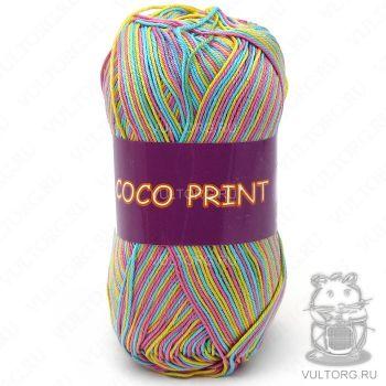 Пряжа Coco print Vita Cotton, цвет № 4680 (Радужный меланж)