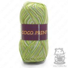 Пряжа Vita Cotton Coco print, цвет № 4671 (Желтый-зеленый меланж)