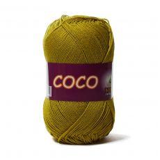 Пряжа Vita Cotton COCO, цвет № 4335 (Горчичный)