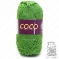 Пряжа COCO Vita Cotton - цвет № 3861 (Ярко-зеленая)