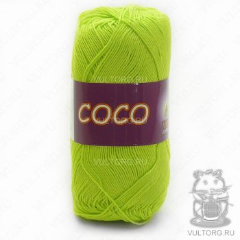 Пряжа COCO Vita Cotton - цвет № 4309 (Салатовый)