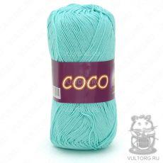Пряжа Vita Cotton COCO, цвет № 3867 (Светло-зеленая бирюза)