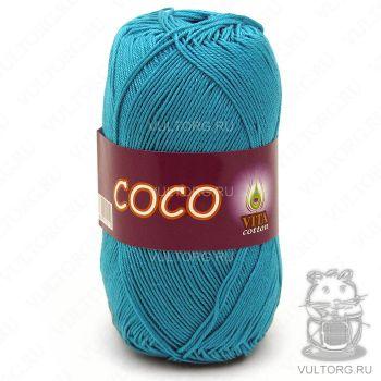 Пряжа COCO Vita Cotton - цвет № 4315 (Темно-зеленая бирюза)