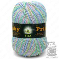 Пряжа Baby Print Vita, цвет № 4863 (Салатово-голубой)