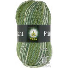 Пряжа Vita Brilliant print, цвет № 2603 (Зеленый)