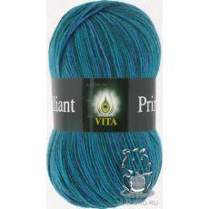 Пряжа Vita Brilliant print, цвет № 2604 (Изумрудный)