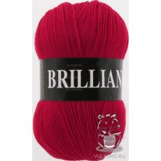 Пряжа Vita Brilliant, цвет № 4968 (Красный)