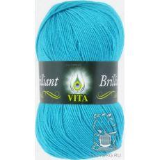 Пряжа Vita Brilliant, цвет № 4993 (Голубая бирюза)