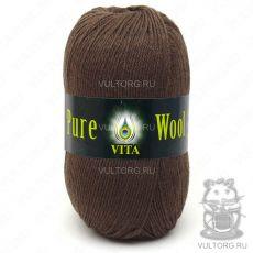 Пряжа Pure Wool Vita, цвет № 1754 (Коричневый)
