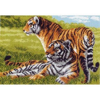 Бенгальские тигры (37х49)