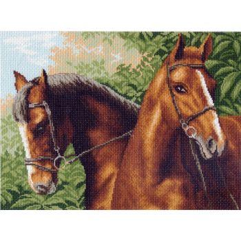 Пара лошадей (37х49)