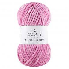 Пряжа Wolans Bunny Baby, цвет № 06 (Темно-розовый)