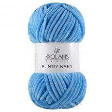 Пряжа Wolans Bunny Baby, цвет № 12 (Голубой)