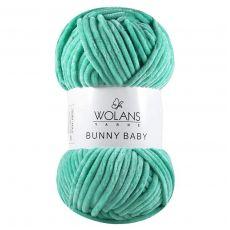 Пряжа Wolans Bunny Baby, цвет № 13 (Светло-бирюзовый)