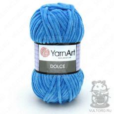 Пряжа Dolce YarnArt, цвет № 758 (Ярко-голубой)