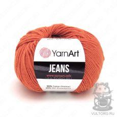 Пряжа YarnArt Jeans, цвет № 85 (Оранжевый)