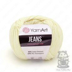 Пряжа YarnArt Jeans, цвет № 86 (Молочный)