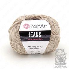 Пряжа YarnArt Jeans, цвет № 87 (Светло-бежевый)