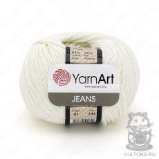 Пряжа YarnArt Jeans, цвет № 01 (Белый)