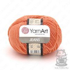 Пряжа YarnArt Jeans, цвет № 23 (Коралловый)