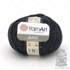 Пряжа YarnArt Jeans, цвет № 28 (Графит)
