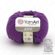 Пряжа YarnArt Jeans, цвет № 50 (Баклажан)