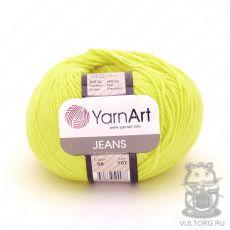 Пряжа YarnArt Jeans, цвет № 58 (Жёлтый неон)