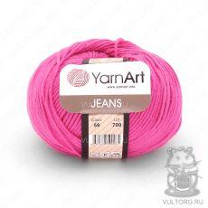 Пряжа YarnArt Jeans, цвет № 59 (Ярко-розовый)