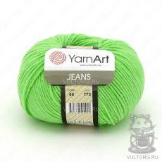 Пряжа YarnArt Jeans, цвет № 60 (Ярко-зелёный)