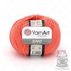 Пряжа Jeans YarnArt, цвет № 61 (Коралловый)