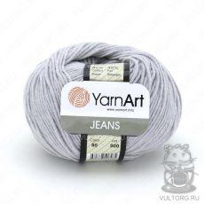 Пряжа YarnArt Jeans, цвет № 80 (Светло-серый)