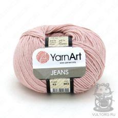Пряжа YarnArt Jeans, цвет № 83 (Светло-розовый)