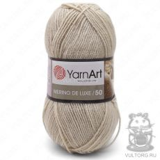 Пряжа Merino De Luxe 50 YarnArt, цвет № 0033 (Серо-бежевый)