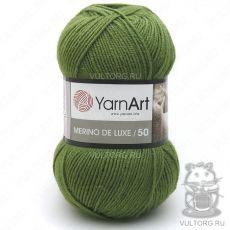 Пряжа Merino De Luxe 50 YarnArt, цвет № 0098 (Зелёный)