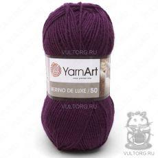 Пряжа Merino De Luxe 50 YarnArt, цвет № 10094 (Тёмно-фиолетовый)
