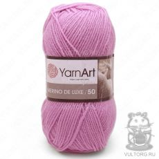 Пряжа YarnArt Merino De Luxe 50, цвет № 10119 (Розово-сиреневый)