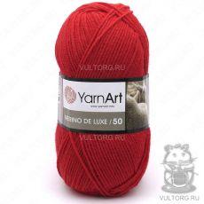 Пряжа Merino De Luxe 50 YarnArt, цвет № 156 (Красный)