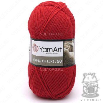 Пряжа YarnArt Merino De Luxe 50, цвет № 156 (Красный)