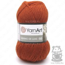 Пряжа Merino De Luxe 50 YarnArt, цвет № 3027 (Рыжий)