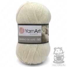 Пряжа Merino De Luxe 50 YarnArt, цвет № 502 (Молочный)