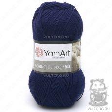 Пряжа Merino De Luxe 50 YarnArt, цвет № 583 (Темно-синий)