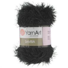 Пряжа Samba YarnArt, цвет № 02 (Черный)