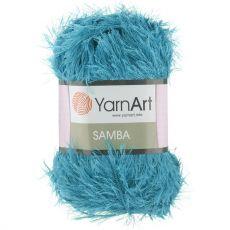 Пряжа YarnArt Samba, цвет № 30 (Яркая бирюза)